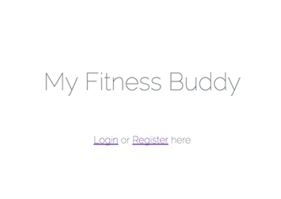My Fitness Buddy (Laravel, MySQL)