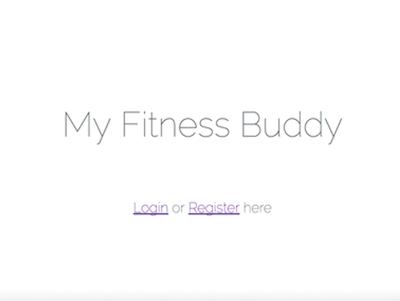 My Fitness Buddy (Laravel, MySQL)